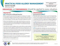 Practical Food Allergy Management QUICK GUIDE